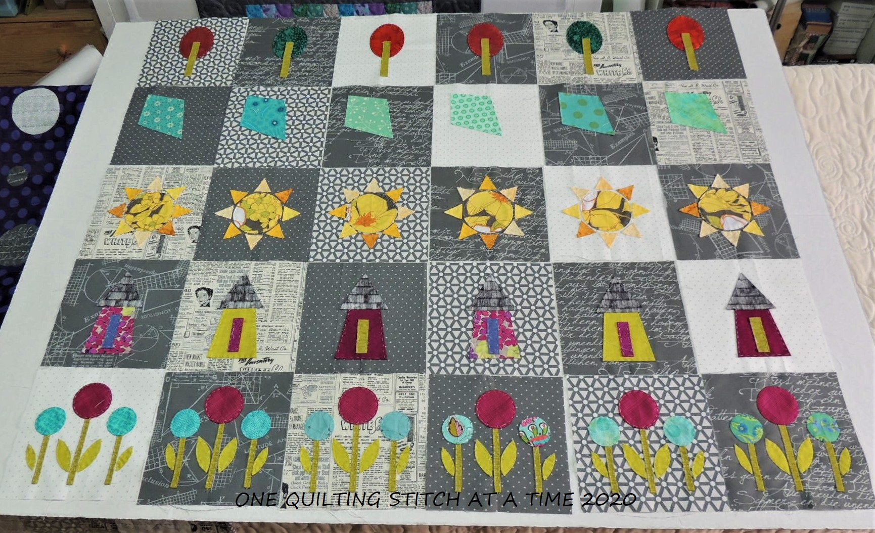 Row Quilt Progress